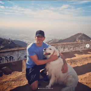 James Marsden and his recently deceased family dog
